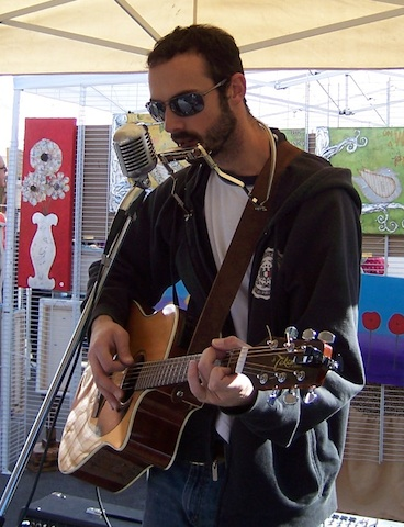 Andrew Karnavas at the February 2011 market.