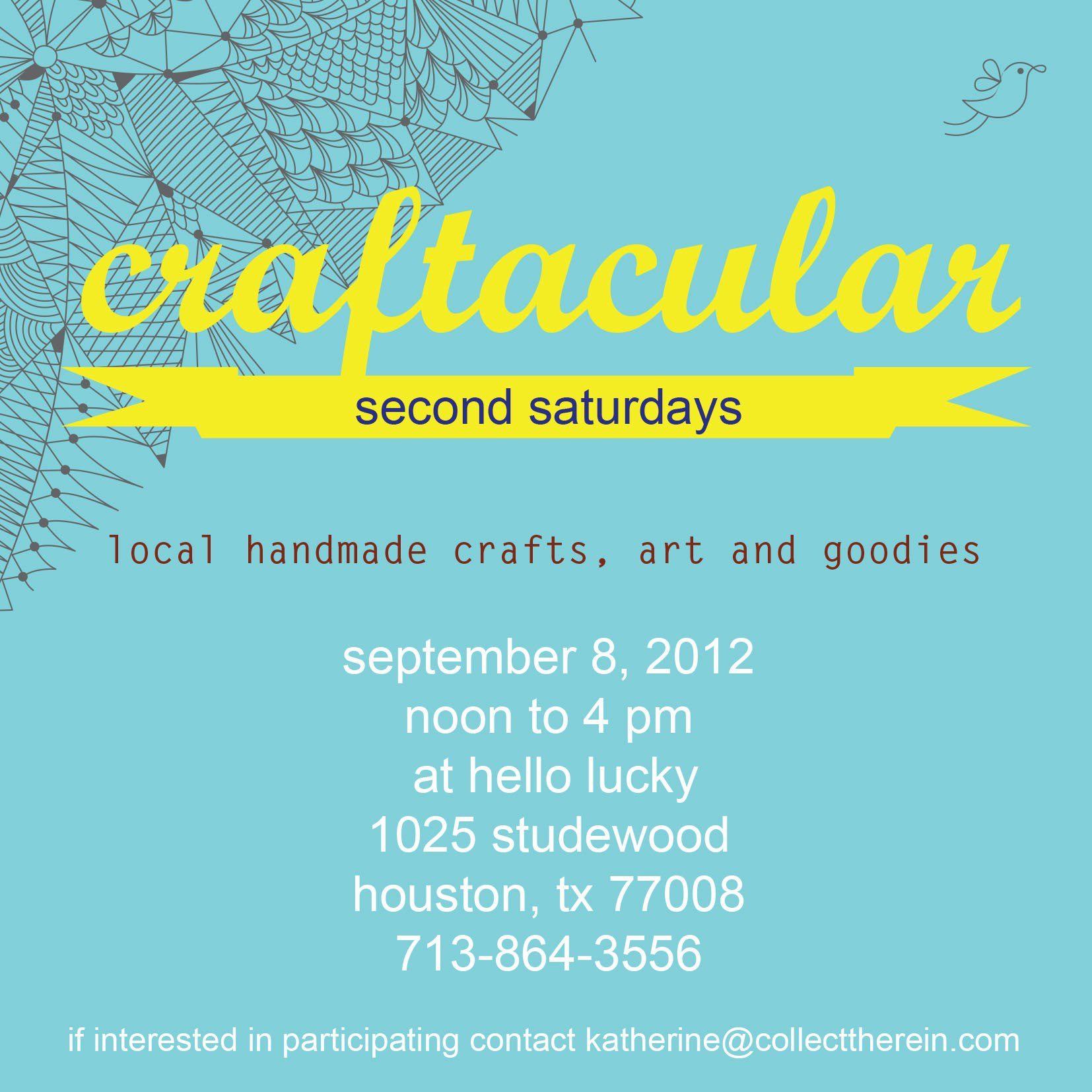Craftacular Second Saturdays